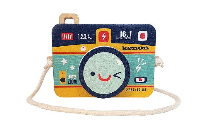 Câmera de madeira Kenon azul