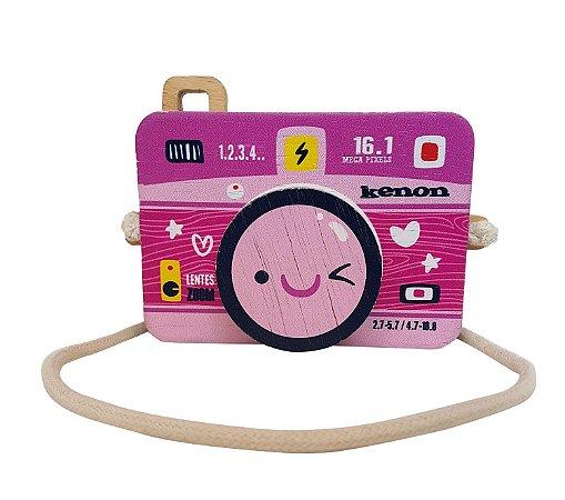 Câmera de madeira Kenon rosa