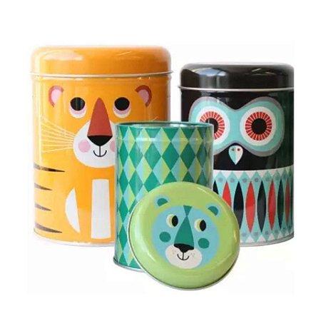 Conjunto de latas Animais