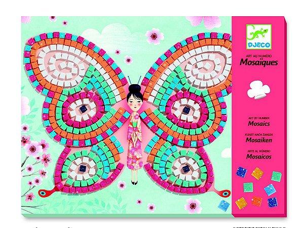 Colagem com mosaico - Borboletas