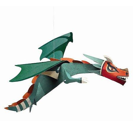 Criar com papel - Dragão Gigante