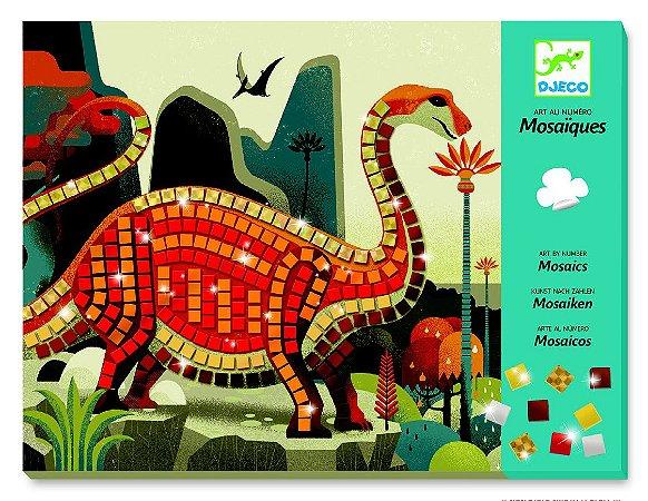 Colagem com mosaico - Dinossauros