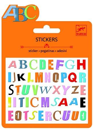 Mini adesivo Letras Coloridas
