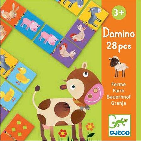 Jogo Dominó - Animais Fazenda