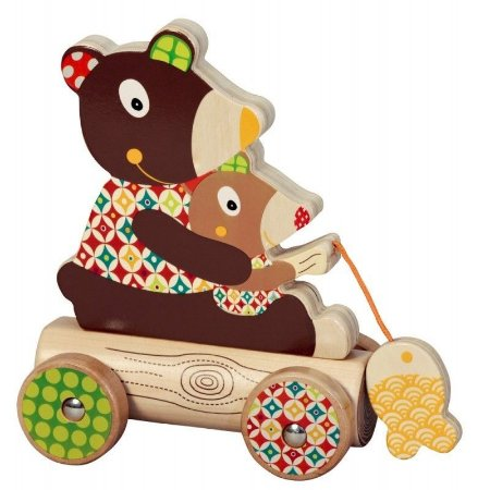 Pai e filho urso para encaixar e puxar