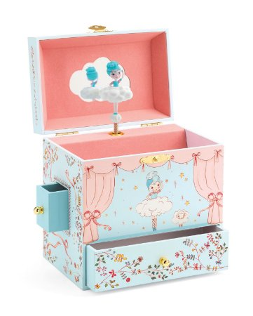 Caixa de música - Bailarina Azul