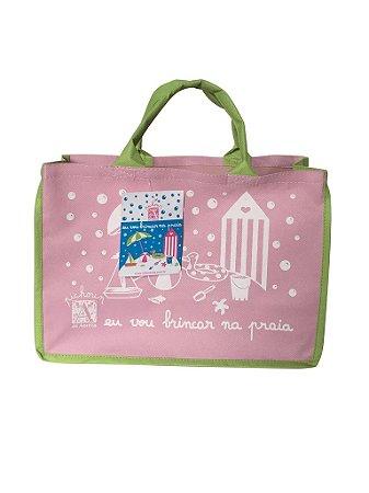 Sacola de Praia rosa para pequenos