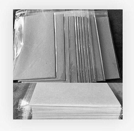 Kit 10 cartões SoulCollage® com plástico adesivado