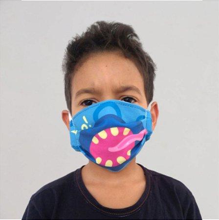 Máscara Kids Monstro Azul