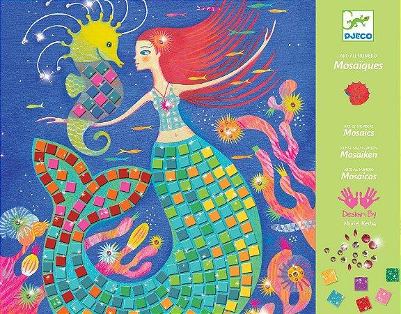 Colagem com Mosaico - Sereia