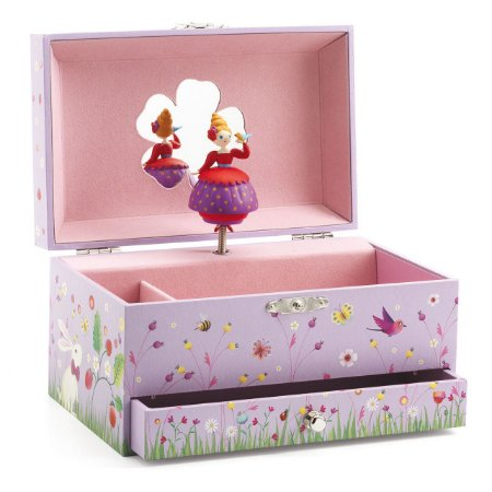Caixa de música - Princesa com Pássaro