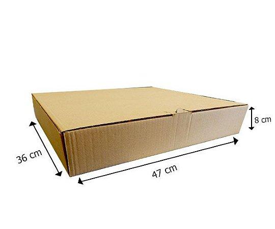 Caixa de Papelão 47x36x8 cm - 25 unidades