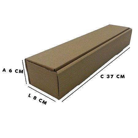Caixa de Papelão Formato Tubo T1 8x6x37 cm  50 unidades