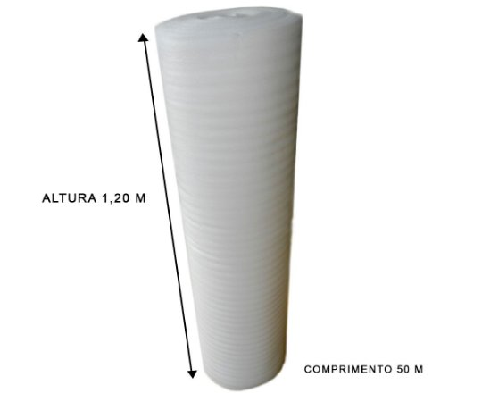 Manta de Polietileno Expandido 1,20x50 mts