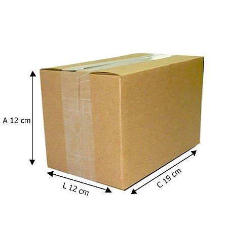 50 Caixas de Papelão D3  19x12x12 cm