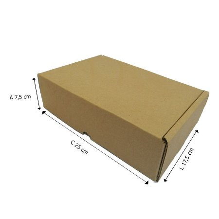 25 Caixas de Papelão A°2 Sedex 25x17,5x7,5 cm