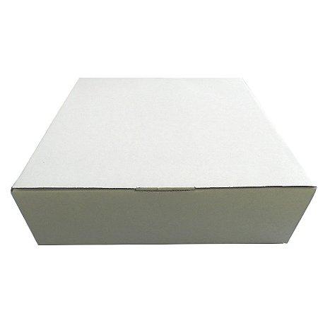 25 Caixas de Papelão Branca Para Tortas E Bolos G 42x40x12,5 cm