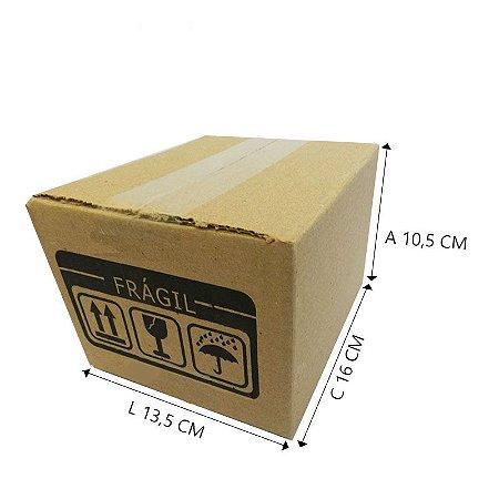 50 Caixas Papelão A3 15,5 X 13,5 X 10,5 cm