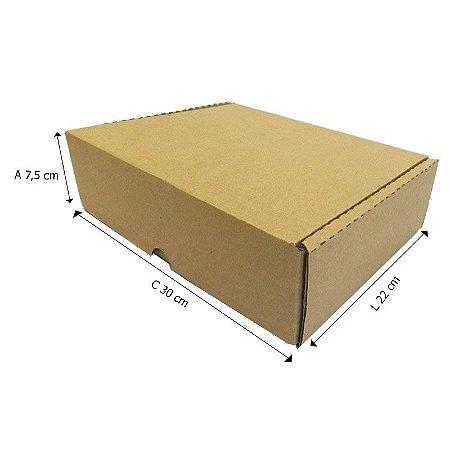 25 Caixas Papelão Aº3 Sedex - C 28,5 X L 22 X A 7,5 cm