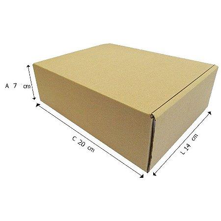 50 Caixas Papelão  A°1 Sedex - C 20 X L 14 X A 7 cm