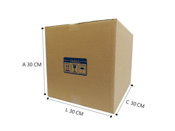 20 Caixas de papelão E12 30x30x30 cm