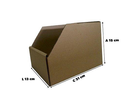 Caixa De Papelão Organizadora Estoque Prateleira  21x13x15 - 25 un