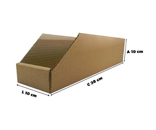 Caixa De Papelão Organizadora Estoque Prateleira  38x10x10 - 25 un