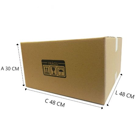 10 Caixas de Papelão para mudança E°1  48x48x30 cm