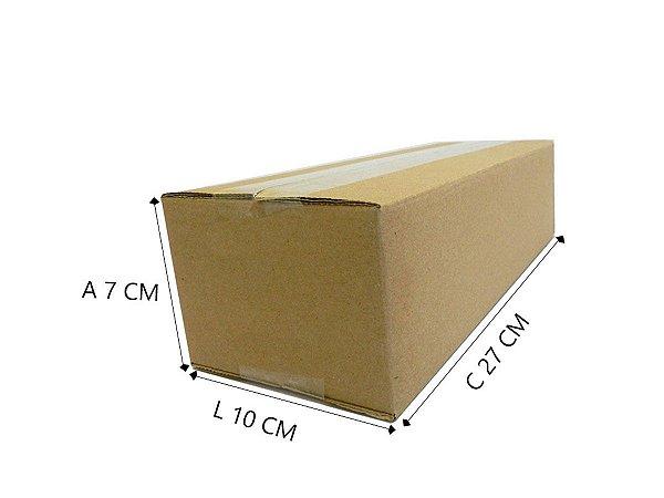 50 Caixas de Papelão P2 - 27x10x7 cm