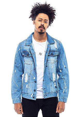 Jaqueta Jeans Winter Face com Tinta