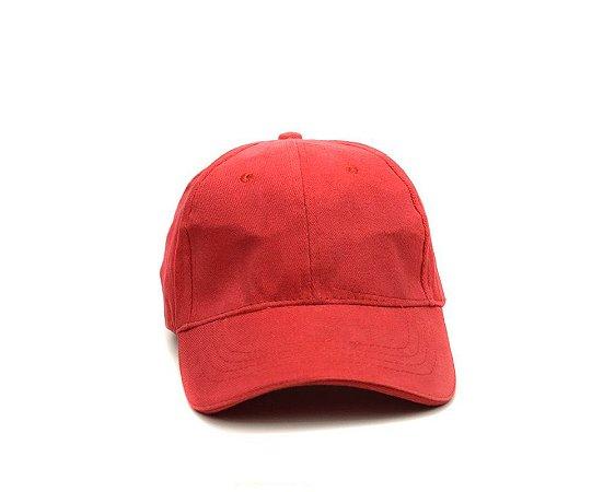 Boné Aba Curva Vermelho Liso