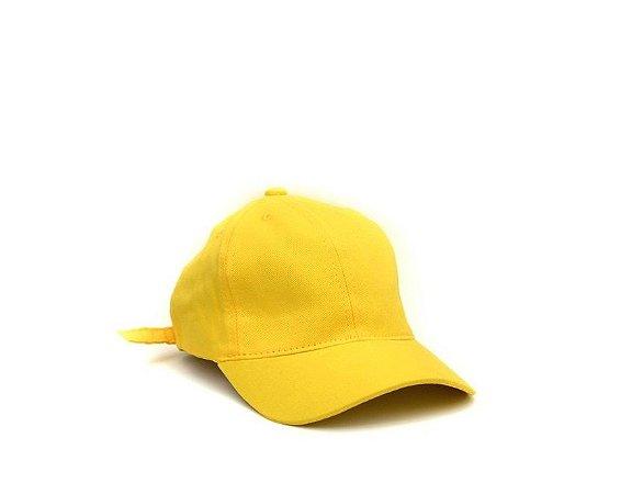Boné Aba Curva Amarelo Liso