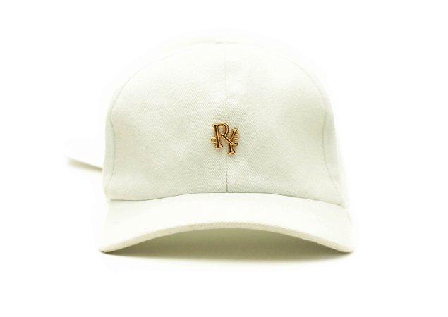 Boné Dad Hat Aba Curva Pingente Branco