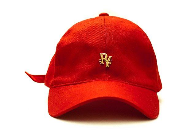 Boné Dad Hat Aba Curva Pingente Vermelho