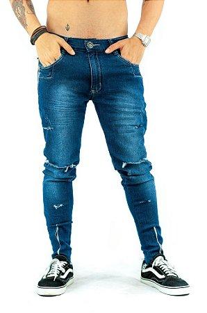 Calça Jeans Zíper Azul