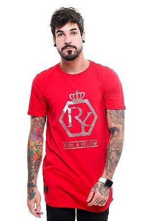Camiseta Long Majesty Bright Vermelha
