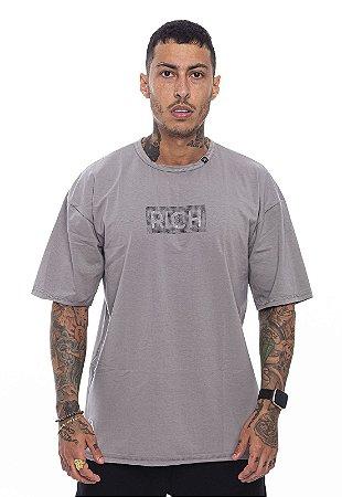 Camiseta Oversized Superstar Pedraria Cinza