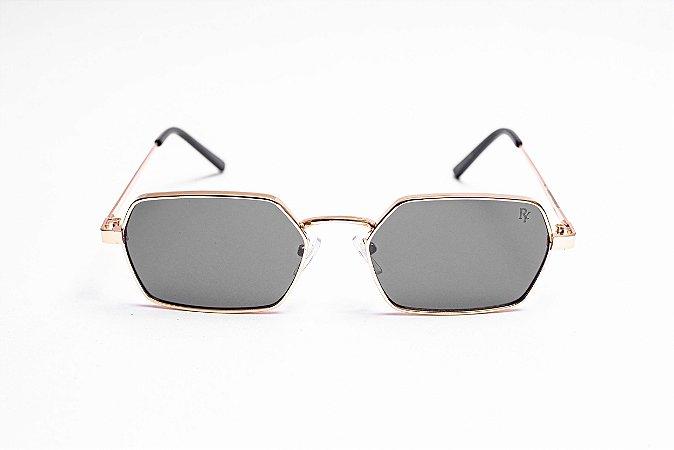 Óculos Superstar Preto com Dourado