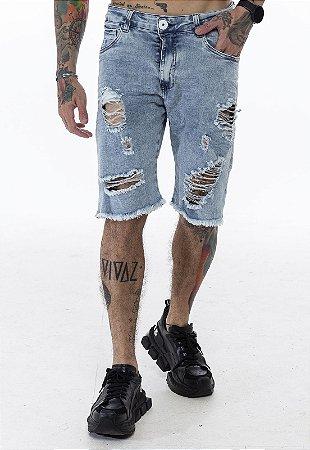Bermuda Classic Rasgada Jeans