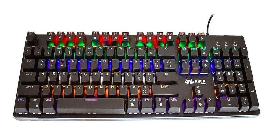 Teclado USB Gamer Mecânico KNUP KP-2051/ME