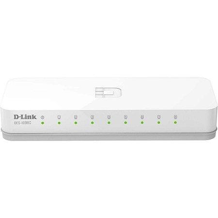Switch 8 portas 10/100 Mbps D-Link