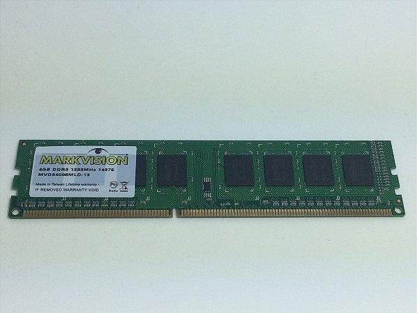 Memória Markvision 4GB DDR3 1333MHZ - OEM