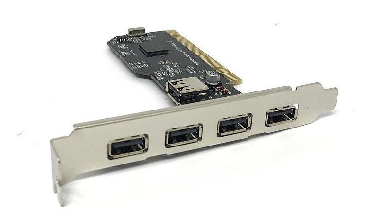 Placa PCI USB 2.0 com 5 Portas KNUP HB-T74
