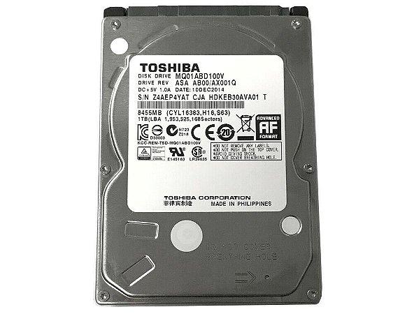 HD Notebook 2.5 1TB SATA 3 Toshiba