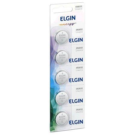 Bateria Elgin CR2032 3V Cartela Com 5 Unidades