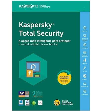 Kaspersky Total Security - Multidispositivos - 1 Dispositivos, 1 ano (Digital)
