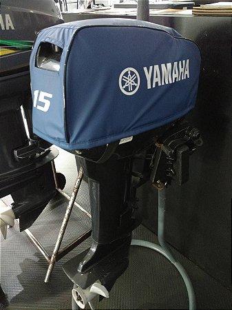 Motor de popa Kawashima 15hp usado ano 2014