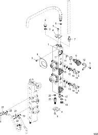 Flauta Bico injetor Mercury 3 Cilindros (completa) 895750T02