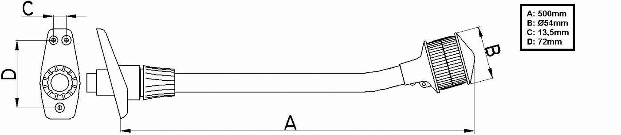 Mastro porta bandeira com Estrobo (LED)
