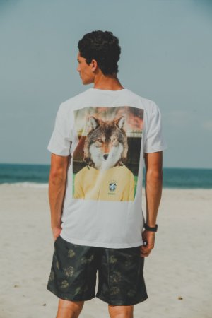 Camiseta Wolf Branca